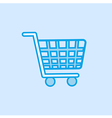 Shopping Trolley Icon Simple Blue vector image