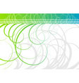 swirl background in green color vector image