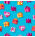 Seamless Pattern Gift Boxes vector image