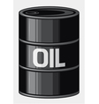 Black oil barrel vector image vector image