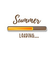 summer loading bar isolated on white background vector image