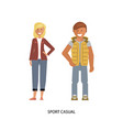 sport casual suits vector image vector image