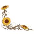 flowers floral elements border vector image