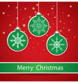 Merry Christmas Greeting Card vector image