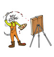 cat painter vector image
