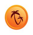 sticker palm orange vector image