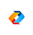 circle shape color technology logo vector image
