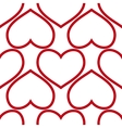 seamless red hearts vector image vector image