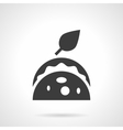 Tortilla with filling glyph style icon vector image