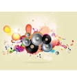 abstract colored background with vinyl and musical vector image