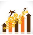business progress graph stock vector image