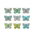 butterfly cute bundle vector image