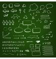 Chalk scribble elements vector image
