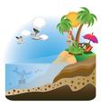 Happy Girl on Island3 vector image