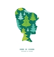 holiday christmas trees girl portrait silhouette vector image
