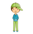 Little boy wearing cap vector image