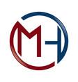mh letter business branding logo design vector image