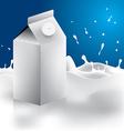 milk box packaging Eps 10 vector image