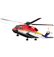 Rescue emergency helicopter vector image