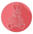 Flat icon of bunny toy vector image vector image