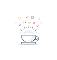 Energizing drink refreshing tea and coffee cup vector image