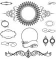 decorative ornament set vector image vector image