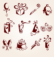 party elements set vector image