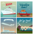 Travel Banners Sea Holidays Passenger Ship Tourism vector image