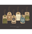 eco friendly fabric cloth tag labels vector image