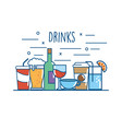 delicious beverage nutrition to drinks vector image