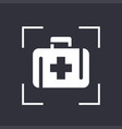 first aid kit icon medicine chest sign vector image