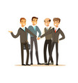 group of businessmen having meeting in office vector image