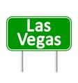 Las Vegas green road sign vector image