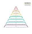 Pyramid triangle with 7 steps levels vector image