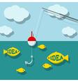 Search ideas concept vector image