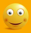 smile constructor cartoon smiley emoticon emoji vector image