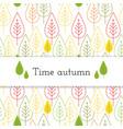 white paper stripe banner on autumn leaves vector image