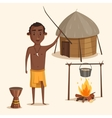 Indigenous south american or african male vector image