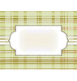 template frame on the checkered background vector image vector image