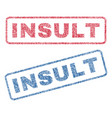 insult textile stamps vector image