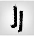 grunge tire letter vector image