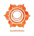 Swadhisthana chakra vector image