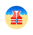 Life jacket icon Summer Vacation vector image