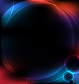 abstract circular design background vector image vector image