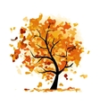 Abstract autumn tree for your design vector image