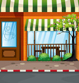 Coffee shop on the street vector image