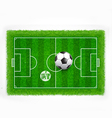 Football field top view with realistic green grass vector image