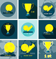 Golden Sports Reward and Prizes vector image