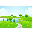 green city landscape vector image