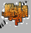 lovecreative original design in graffiti grunge vector image
